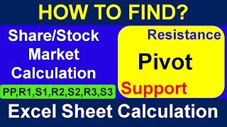 Support & Resistance and Pivot Point Calculation in Share Market with Excel Sheet - Share Market -