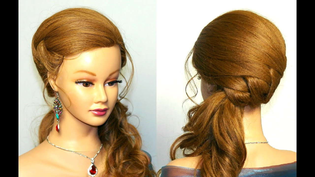 wedding prom hairstyle for long hair tutorial - youtube