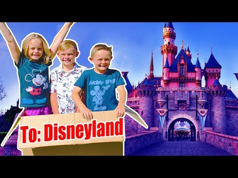 Tinkerbell Magically Flew Us To Disneyland!  Pt 1 Kids Fun TV Family Vacation!