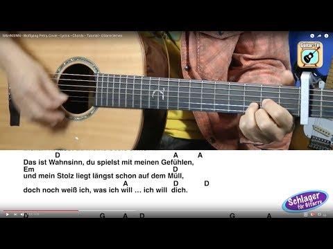 WAHNSINN - Wolfgang Petry, Cover • Lyrics • Chords • Tutorial • Gitarre lernen
