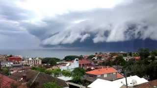 nube tsunami en Australia  Sydney