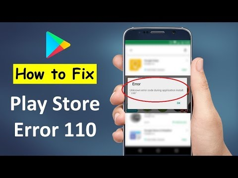 How To Fix Google Play Store Error 110 Cant Install App In Android