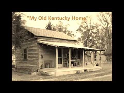 MY OLD KENTUCKY HOME by Stephen Foster words lyrics old American folk state derby sing along song