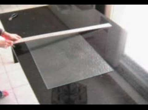 youtube how to cut tempered glass