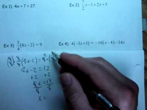Algebra 2 8 21 2012 C Solving Equations in one variable with a ...