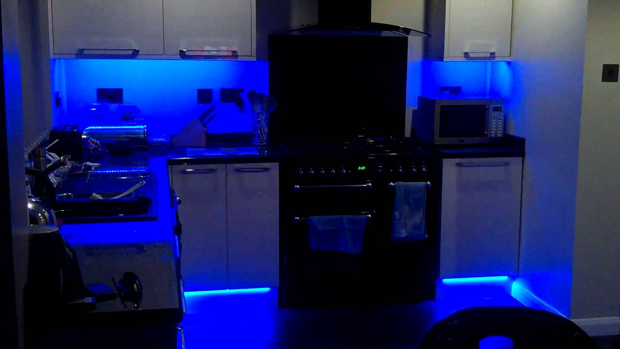 Led Kitchen Lighting My New Colour Changing Led Kitchen Lights Youtube