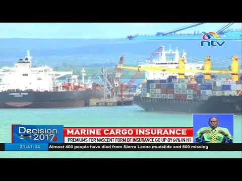 Insurance premiums for marine cargo have gone up by 64 per cent