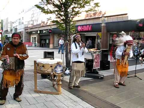 Native Red Indians : El Condor Pasa: Spirit of The earth at Birmingham New Street