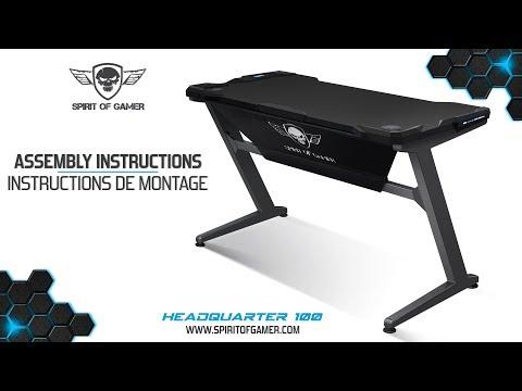 Headquarter 100 Spirit Of Gamer : Assembly instructions Gaming Desk