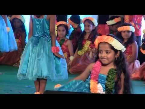 Enjoy The Hawaiian Hula Performance - 2nd Grade,Silas International School, Udupi