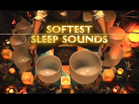 Softest Crystal Singing Bowls Sound Bath | Sleep | Anxiety | Stress Relief | Meditation | 432Hz