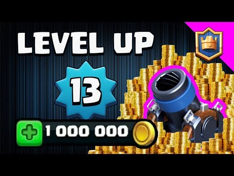 1,000,000 GOLD SPENT FINALLY LEVEL 13! MAX LEVEL MORTAR 3.0 CYCLE - Clash Royale
