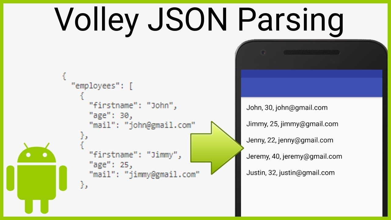 How to Parse a Json Using Volley - SIMPLE GET REQUEST - Android Studio  Tutorial