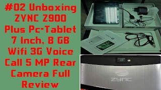 Unboxing ZYNC Z900 Plus Pc-Tablet 7 Inch 8 GB Wifi 3G Voice Call 5 MP Rear Camera Full Review