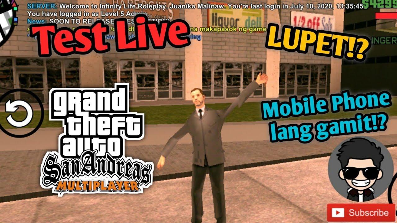 Test Live GTA SA-MP Online Roleplay Mobile || Live gamit lang ang Pocophone F1!? || Kalupet nito 😂