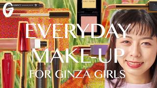 GINZA×るーさん EVERYDAY MAKE-UP Vol.7 リップのポピーレッド×目元のピンクで最新ワントーンメイク 品田ゆい 動画 23