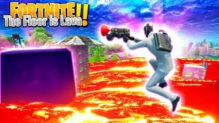 FORTNITE - *NEW* CUSTOM GRAPPLING HOOK GAME, THE FLOOR IS LAVA!!