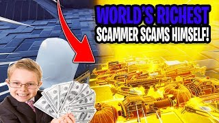 Worlds Richest Scammer Scams Himself! (Scammer Gets Scammed) Fortnite Save The World