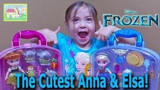 Cutest Ever Disney Frozen Animators' Elsa Anna Mini Doll Play Sets