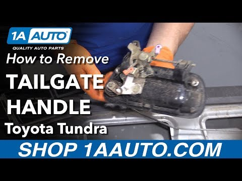 How to Replace Tailgate Handle 00-06 Toyota Tundra
