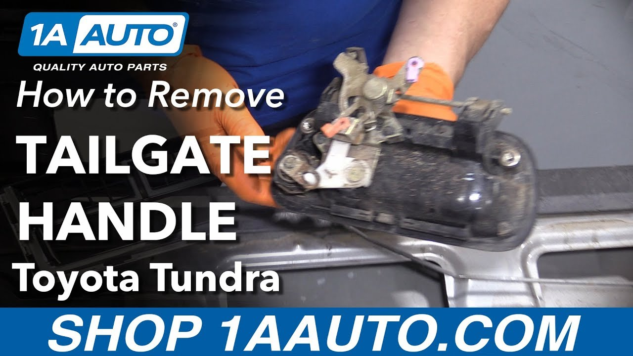 How To Replace Tailgate Handle 00 06 Toyota Tundra Youtube