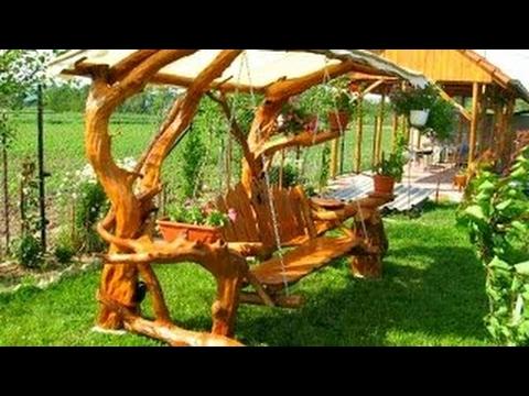 100 Wood Swing and Wood Garden Decoration Ideas 2017 - Pallet Log Creative Ideas -newest populer de