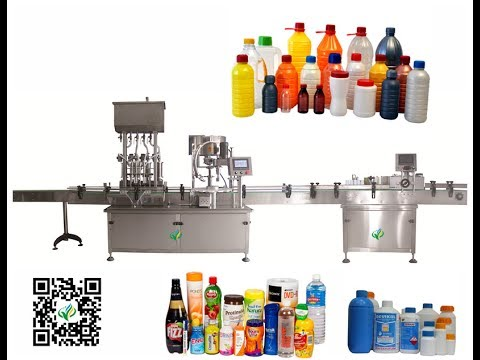 auto juice filling screw capping machine for Catsup Mustard Syrups volumetric filler cap tightener