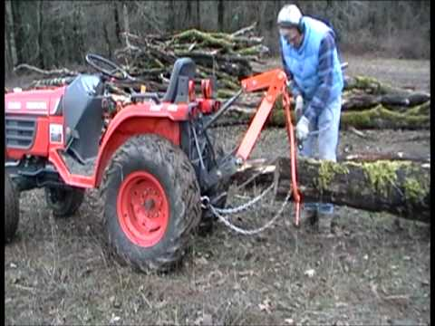 small tractor log skidder mpg youtube