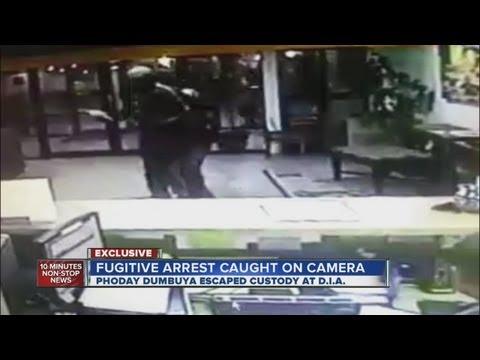 DIA fugitive arrest caught on camera