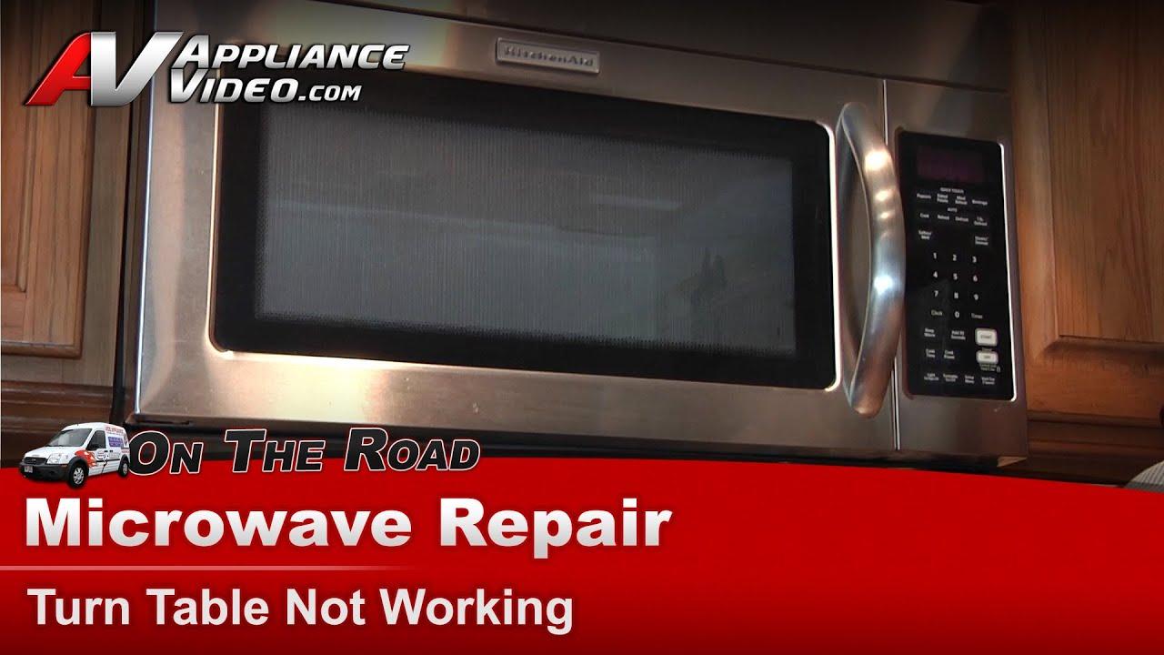 microwave repair turn table motor not working whirlpool maytag roper khms2040wss0