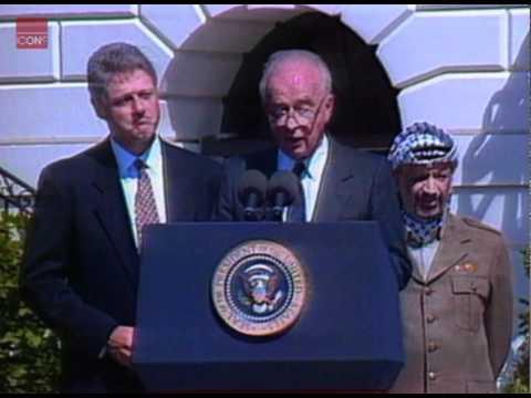 Yitzhak Rabin After Signing The Israeli/PLO Peace Agreement