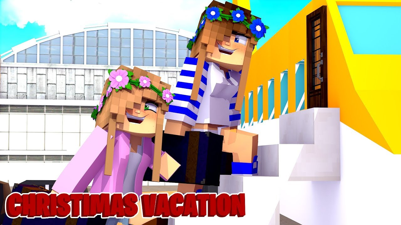 Minecraft ROYAL FAMILY: Little Carly's and Little Kelly's Christmas Vacation (Roleplay).