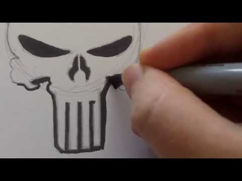 How To Draw Punisher Skull