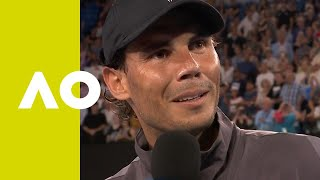 Rafael Nadal on-court interview (2R) | Australian Open 2019
