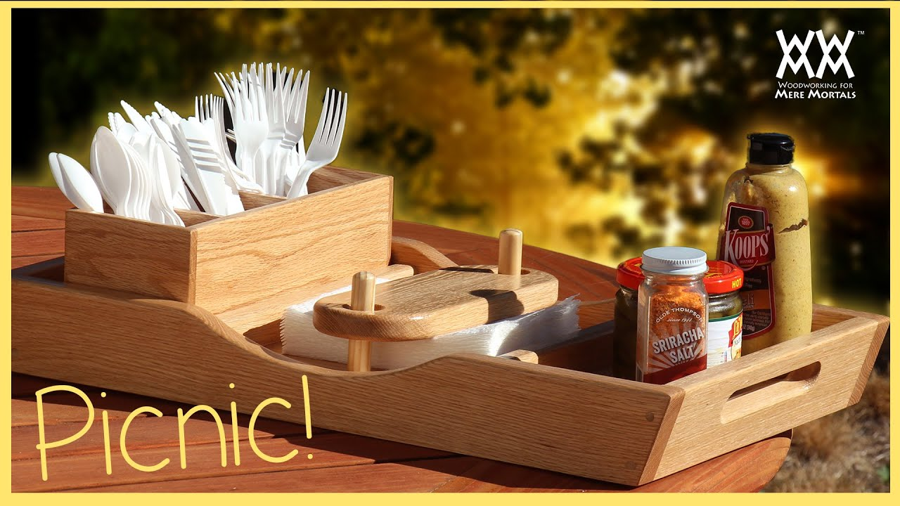 Summer Picnic Tray. Wow! Napkins Won't Blow Away! - YouTube