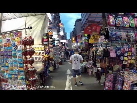 【Hong Kong Walk Tour】Fa Yuen St 花園街→Lady's St 女人街→Temple St 廟街→Canton Rd 廣東道