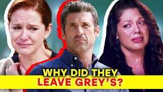 The Real Reasons Why Main Characters Left Grey's Anatomy | ⭐OSSA