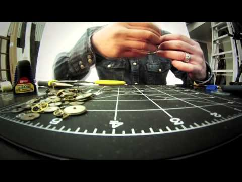 Motorcycle models from watch parts