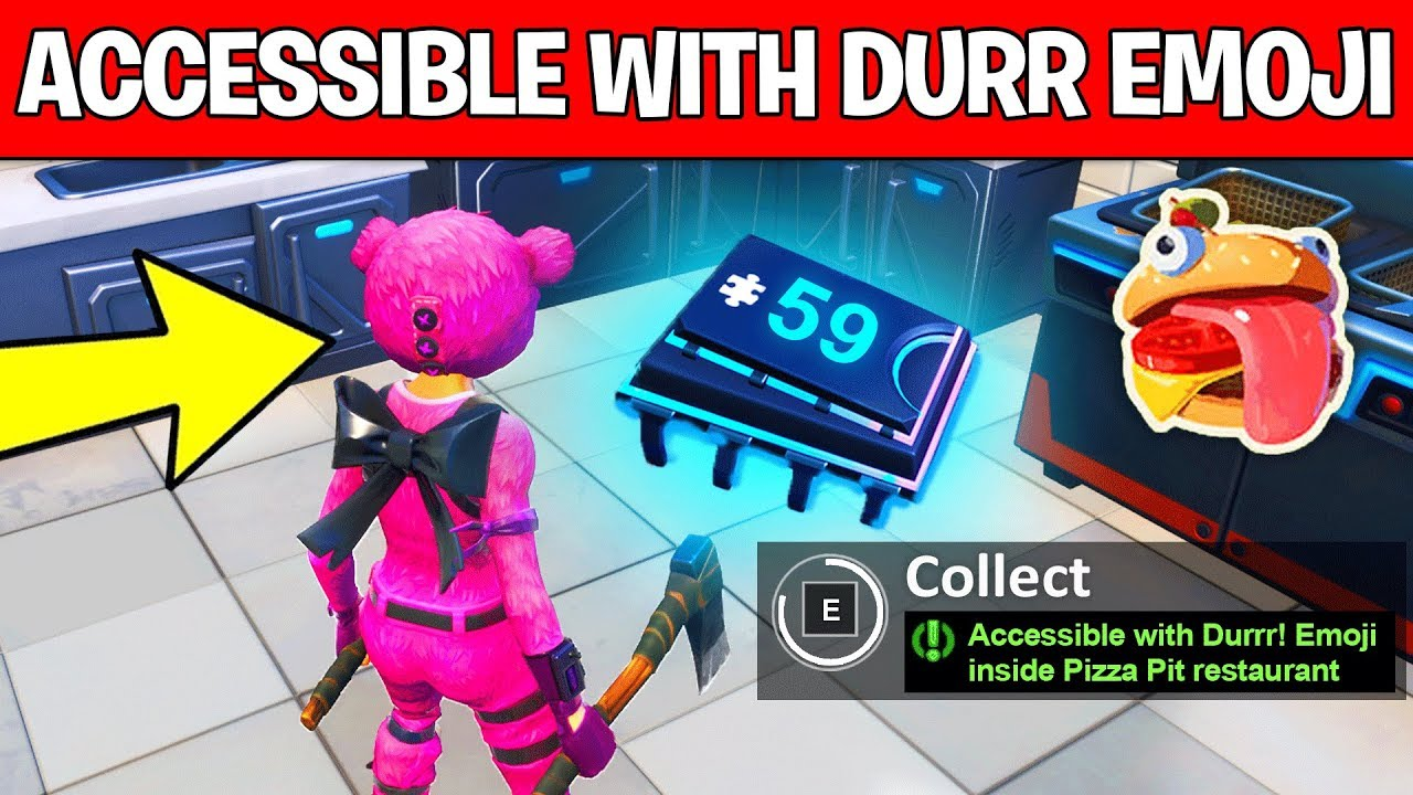 Fortnite Fortbyte 59 Location Accessible with Durrr Emoji