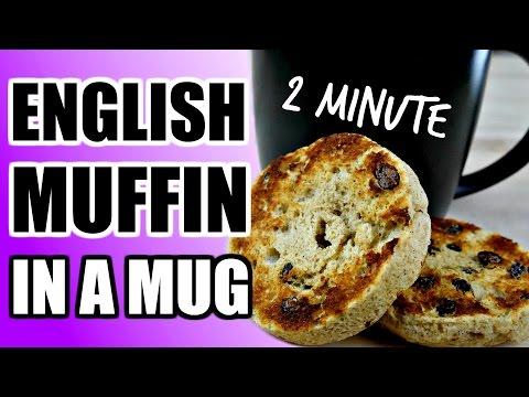 2 MINUTE GLUTEN FREE ENGLISH MUFFIN RECIPE | Microwave English Muffins Paleo Bread In A Mug