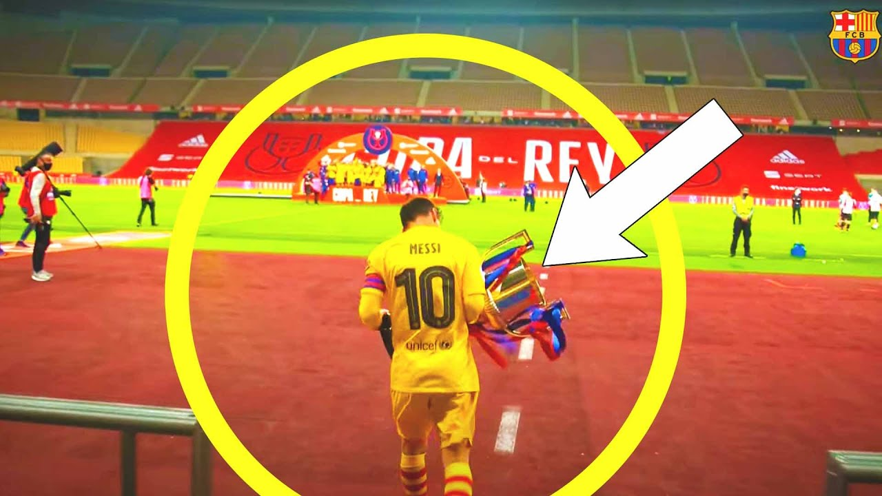 THAT'S WHAT MESSI DID FOR BARCA AFTER THE MATCH! Messi dedicated the win to the team! BARCA ATHLETIC