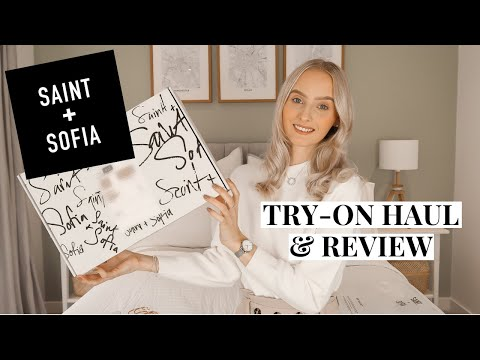 SAINT AND SOFIA TRY-ON HAUL & REVIEW!   Sustainable Luxury Fashion   Emily Louise