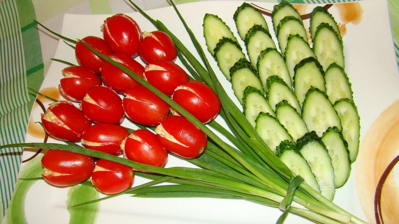 Салат тюльпан  Вкусные канапе, мини бутерброды, на шпажках и красивое оформление 2015