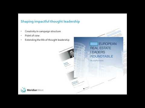 Ideas To Impact: Thought Leadership Is Getting Personal - April 2019 Webinar