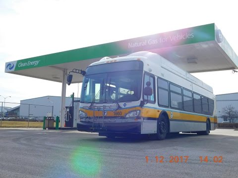 BRAND NEW! MBTA: 2016 New Flyer XN40 (CNG) #1660... Being Delivered & Refueling!