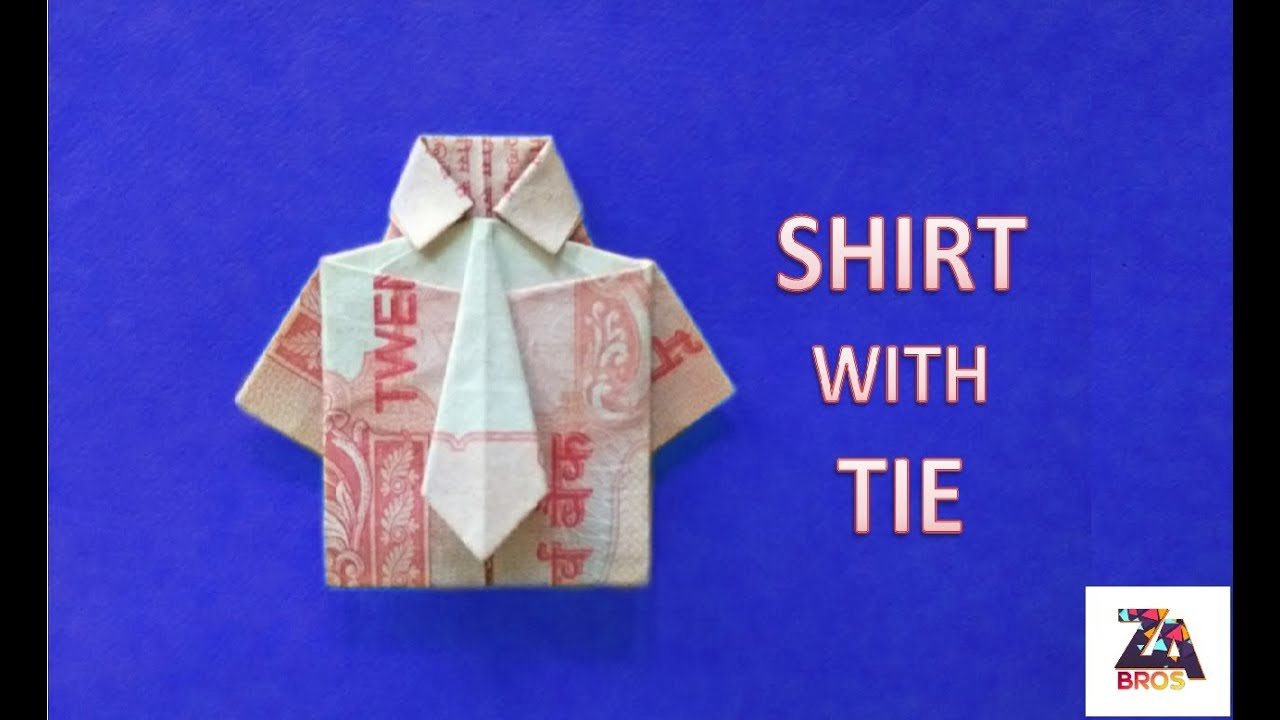 Origami Shirt With Tie | How to Make a Paper Shirt and Tie | Kids ... | 720x1280