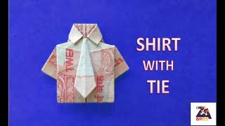How to make Note Shirt with Tie {Origami}