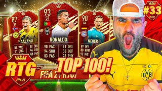 RED CRISTIANO RONALDO PLEASE!! INSANE RTG & TOP 100 REWARDS! FIFA 21 RTG #33