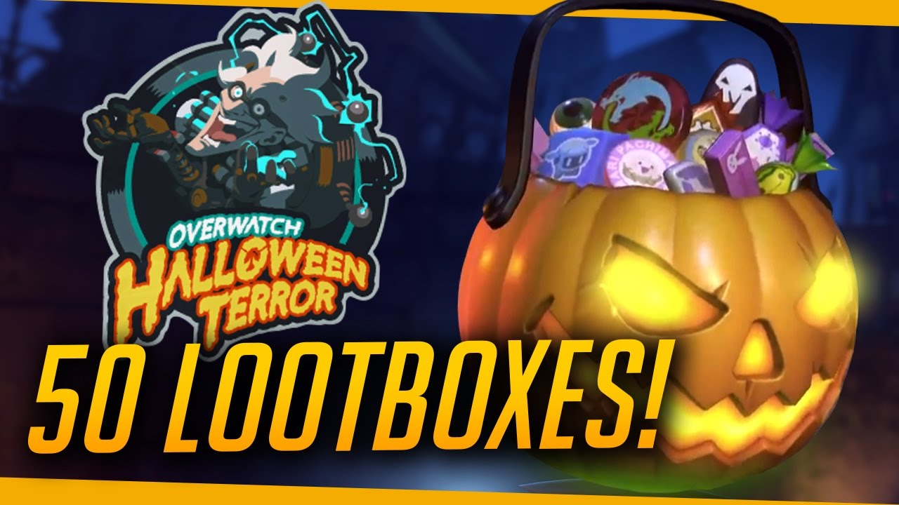 Overwatch   LEGENDARY HAUL! - Halloween 50 Loot Box Opening - YouTube