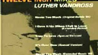 Luther Vandross - Stop To Love (Special Version)
